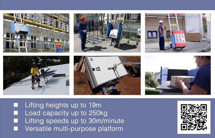 Geda Lift & Geda SolarLift - Inclined Electric Ladder Hoists